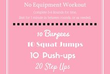 Quick & Sweaty Workouts / Get the biggest bang for your buck with these workouts that take less than an hour!