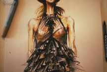 Fashion Illustrations / Marie Ollie Fashion Illustrations made by the designer of the brand, Arthur Dinu
