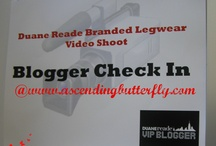 Duane Reade Branded Legwear - Behind the Scenes of Video Shoot! / by Ascending Butterfly