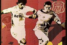Les joueurs pros du CS CARENTAN / Affiche des joueurs professionnels ayant évolué au CS CARENTAN football, avant ou après leur carrière