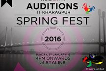 IIT Kharagpur, Spring Fest 2016 / IIT Kharagpur presents the biggest cultural carnival in the entire country. Come, be a part of this thrilling journey. Audition starts