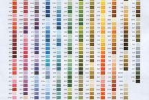 Таблица цветов DMC