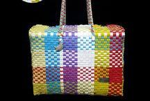 Bolsos artesanales juveniles / Bolsos juveniles tejidos a mano disponibles en varios tamaños y colores ¡elige tu combinación favorita!