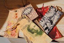 etiquetas vintage / etiquetas caseras. son un pequeño detalle, pero pueden cambiar un regalo, una mesa o un armario  http://inventandobaldosasamarillas.blogspot.com.es/2014/04/etiquetas.html