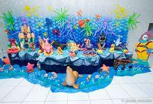 Aniversário Fundo do Mar / Decoração, receitas e bolos para festa de aniversário de criança com tema fundo do mar / by Clarissa Barreto