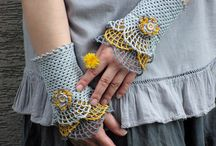 Craft - Fibers / Crochet, Knitting, Embroidery ... cloth, yarn, ribbon, string... jewelery;)   MOSTLY CROCHET / by Connie Kahl