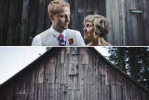 themed wedding: barn wedding
