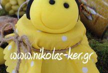 Η βάπτιση της Χριστίνας! Handmade by Nikolas Ker / Μία βάπτιση με πολλές μέλισσες!!! Bee & Honey