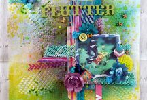 My Scrap Around The World Layouts / A board to pin all my layouts made for the Scrap Around The World Challenges
