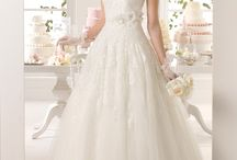 wedding dress with  dropped shoulders