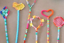 Beads and Buttons / Variety of craft activities and learning games that include beads and buttons for kids.
