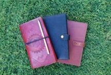 Personalised notebooks leather
