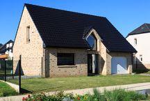 Réalisation à DOURGES (62) / Maison intemporelle, en R+combles, en briques claires à Dourges (62)