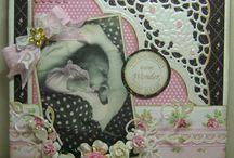 Vintage babykaarten