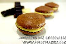 Macarons dos chocolates / como hacer Macarons dos chocolates en casa de manera fácil Fácil y deliciosa receta paso a paso, de estas galletas caseras.  http://www.golosolandia.com/2014/12/macarons-dos-chocolates.html