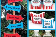 Dr Seuss | Cat in the Hat Party / Dr Suess | Cat in the Hat | Birthday | Party | Theme | Ideas | Printables | Tips | Cake | Cupcakes | Invitation | Decorations | Favors | Games | Food | SIMONEmadeit.com