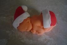 Christmas Baby Fondant Topper 2