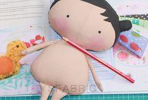 bonecas de pano com moldes