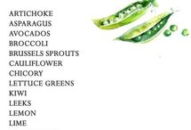 Seasonal vegetables and fruits