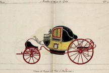 Voitures hippomobiles; caleche, fiacre / Ce thème a pour objectif de décrire les différents types de véhicules hippomobiles