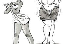 chicas bonitas cartoon