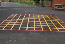 Playground marking grids
