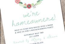 New home invitation
