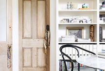 Bookcases round door