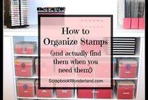 organizing scrapbook supplies