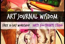 FREE :: Art Journal Wisdom / Art Journal Wisdom is a FREE Online Workshop to get you excited and confidant about art journaling!  Everyone is welcomed!