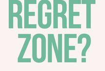 Live Without Regrets / live without regrets \ regret quotes \ don't regret quotes \ regret quotes life \ If you like this board, you will LOVE my blog: http://suzyrosenstein.com/empty-nest-blog/