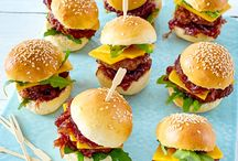 Mini burger finger food