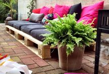 Gardens and balconies / Nice summer deco for the balcony, plants and flowers