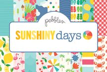 Sunshiny Days | Pebbles Inc. / We...love...summer! Use these fun prints and accessories to spice up your summer projects and document your adventures!