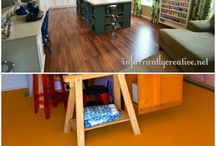 Craft Room Ideas / Ideas for a craft room, decor, furniture, layout, etc.