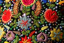 Slavic flower embroidery