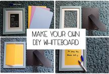 DIY picture frame Whiteboard for less than £2 / Find out how to make your own DIY picture frame white board with Moneymagpie's latest craft post.