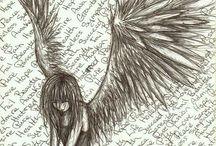 rysunki - anioły