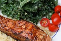 Fish chicken and other protein based recipes / healthy main means with real food ingredients