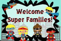 Superhero school theme