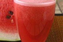 bebidas refrescantes y postres helados
