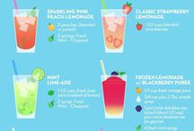 Drinks, smoothies and cocktails