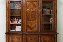 Classic bookcases and desks / Mobili libreria e scrivanie realizzate in legno massello, stile classico, produzione artigianale made in Italy 100%