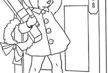 Red Work Infantil / Riscos infantis para bordados em Red Work