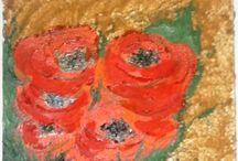 arti figurative / olio su tela con tecnica a spatola