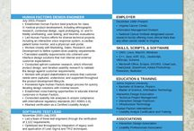 Ideas for CV's and resumes / For getting that job