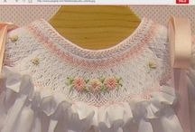 Smocking baby clothes