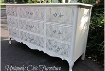 muebles pintados tipo encaje