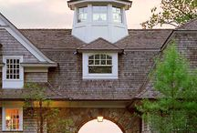 Weathervanes, cupolas, roof finials, and chimney caps. / by Tim Trout