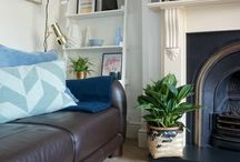 Home: Living Room Inspirations / Lush living rooms, lounges, filled with sofas, pictures, art, prints, fireplaces, storage, bookcases, chairs, carpets, soft furnishings, colourful wallpapers and paints. Ideas and inspiration for the home from a cosy nook to a modern open plan living space.